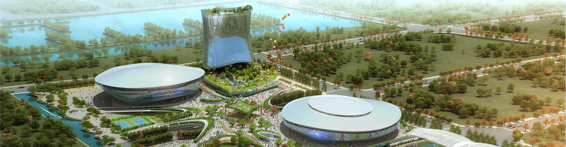 横琴国际网球中心景观效果图